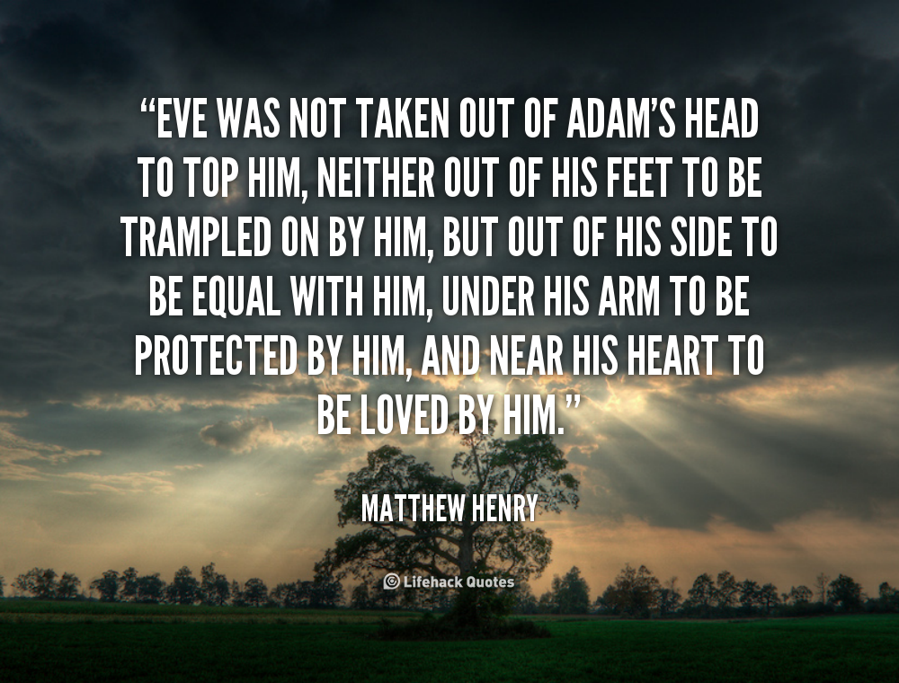 Adam and eve rib quote