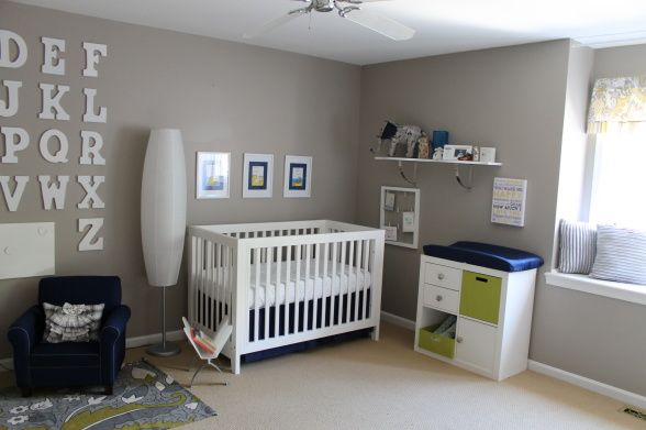 gray navy and yellow baby boy nurseries - Google Search