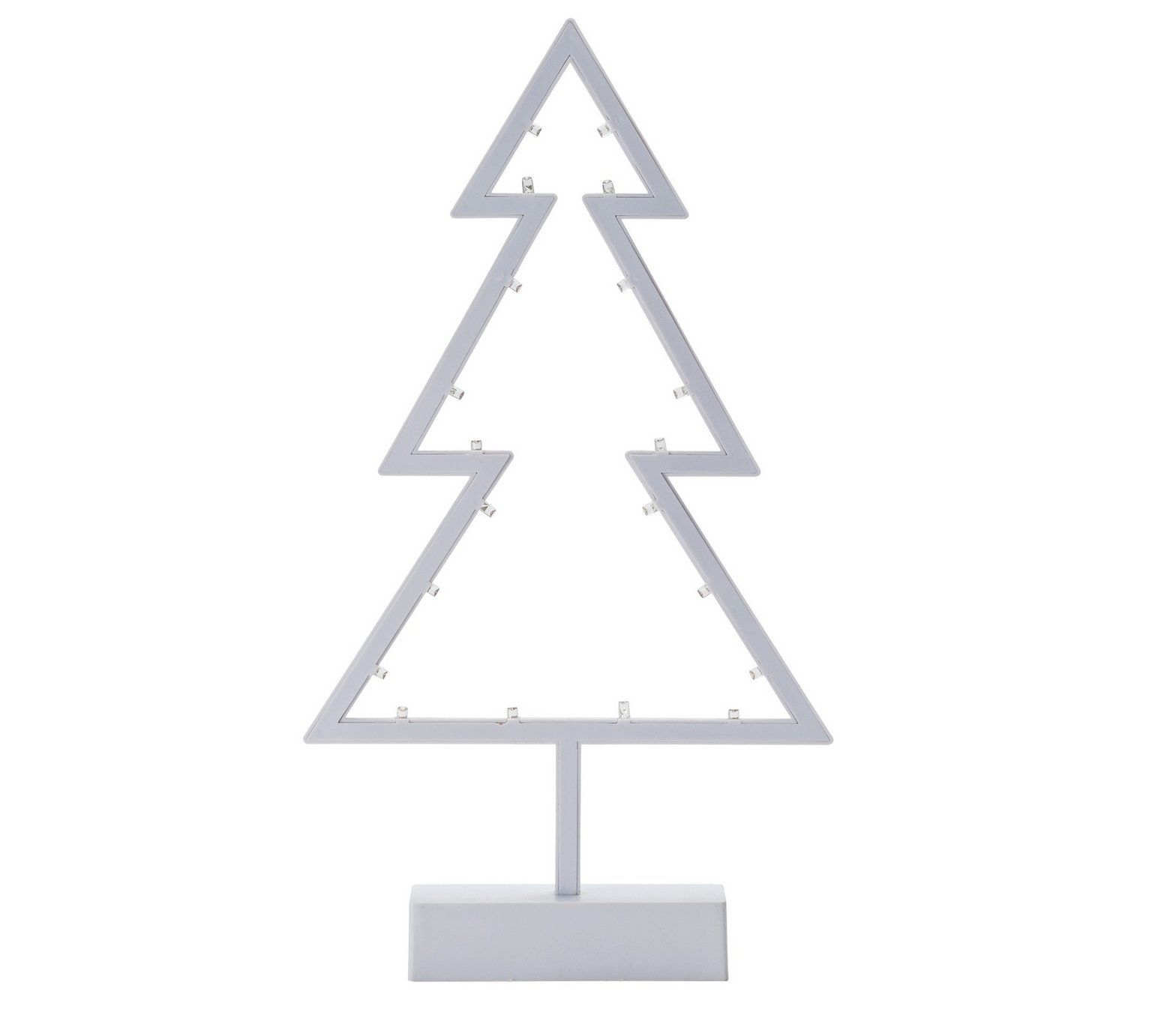 Buy HOME Battery Operated LED Christmas Tree - White at Argos.co.uk ...