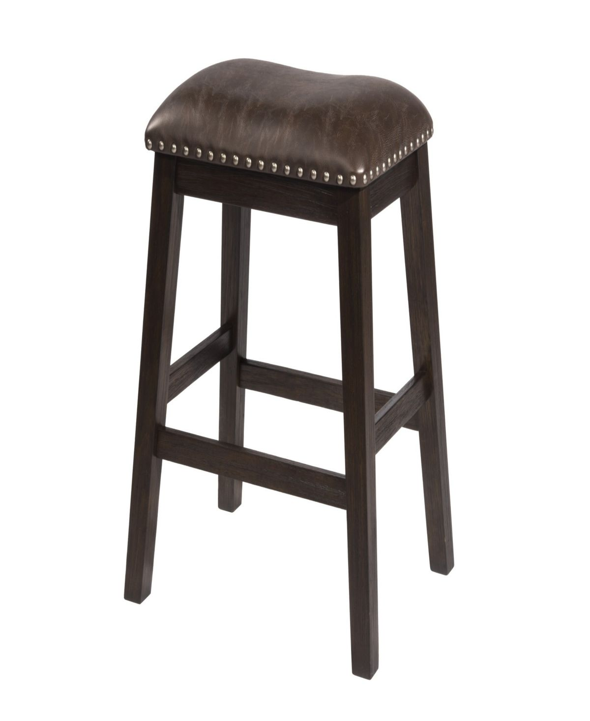 Spencer Non Swivel Backless Counter Stool Set Of 2 Brown