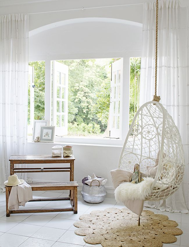 Dreamy Girls Room With Byron Bay Hanging Chair And