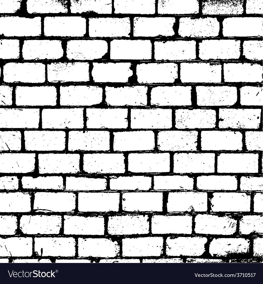 Brickwall Overlay Texture Vector Image On Vectorstock Brick Wall Drawing Brick Wall Wall Drawing