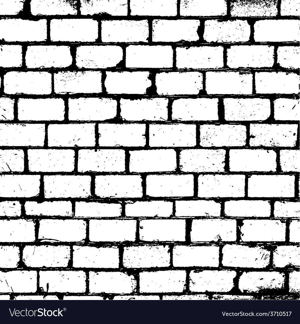 Brickwall Overlay Texture Vector Image On Vectorstock Brick Wall Drawing Draw Bricks Brick Wall