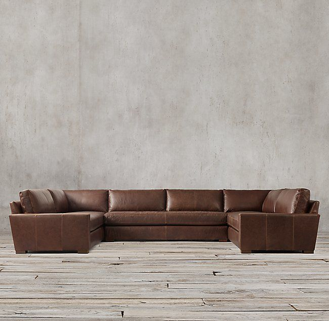 Maxwell Leather U Sofa Sectional | Sectional sofa, Sectional