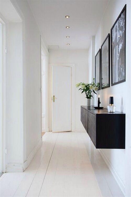 Muebles flotantes para ahorrar espacios decoracion Pinterest - peinture blanche pour mur