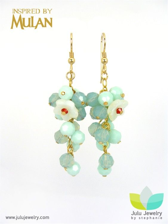 """Earrings inspired by the movie """"Mulan"""" from Lu lu jewelry"""