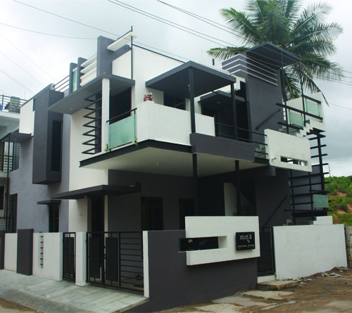 Front Elevation Of House In Bangalore : Actual side view of front elevation for puru s