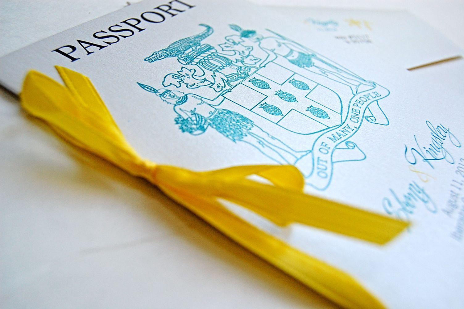 Jamaica Wedding Invitations: Passport Wedding Invitations