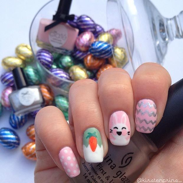 32 Cute Nail Art Designs For Easter Easter Nails Easter Nail