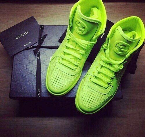 Gucci Neon Green High Tops | Nike boots