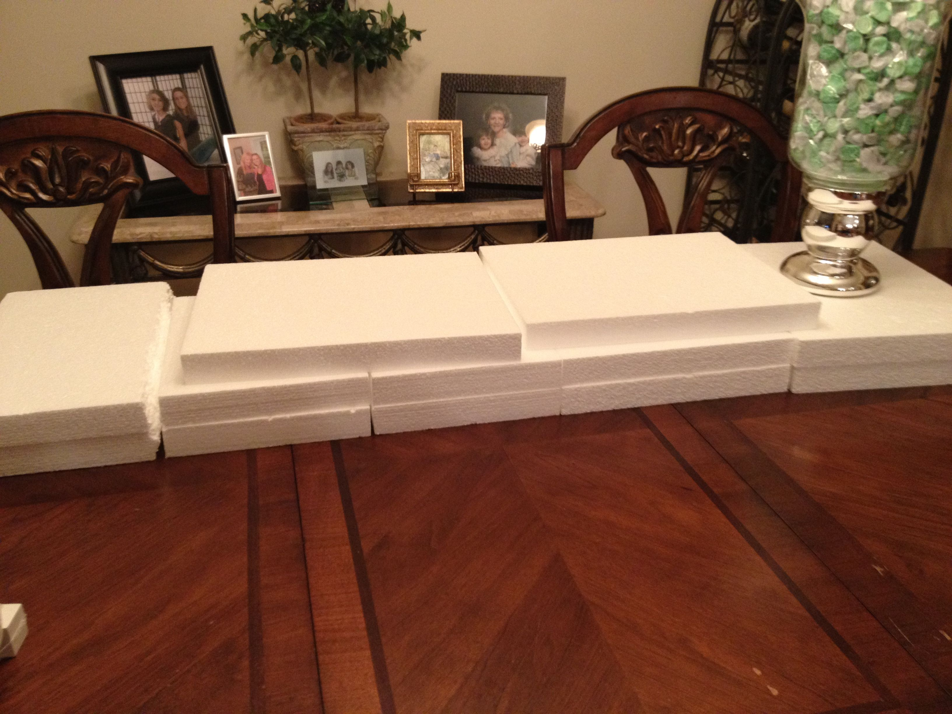 These Styrofoam Sheets Will Need To Be Used As Risers For The Candy Buffet Placed Under The Linens Candy Buffet Food Display Celebrate Good Times