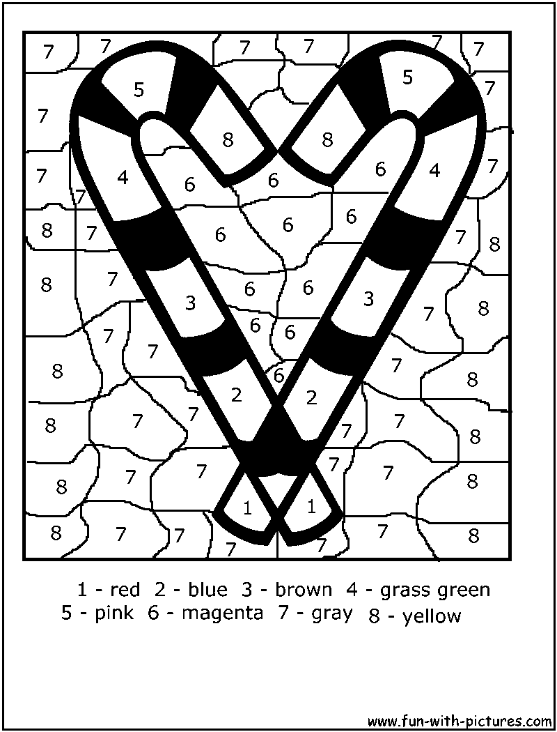 Color By Number Colorbynumber Candystick Coloring Page