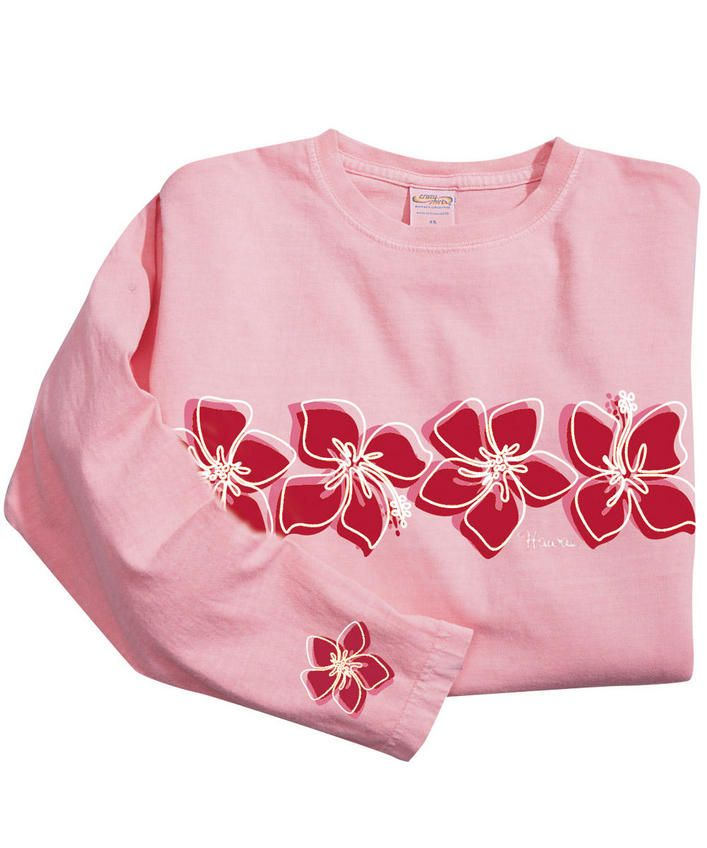 GT Floral Stripe - Rose-Dyed Long-Sleeve Mini T-Shirt