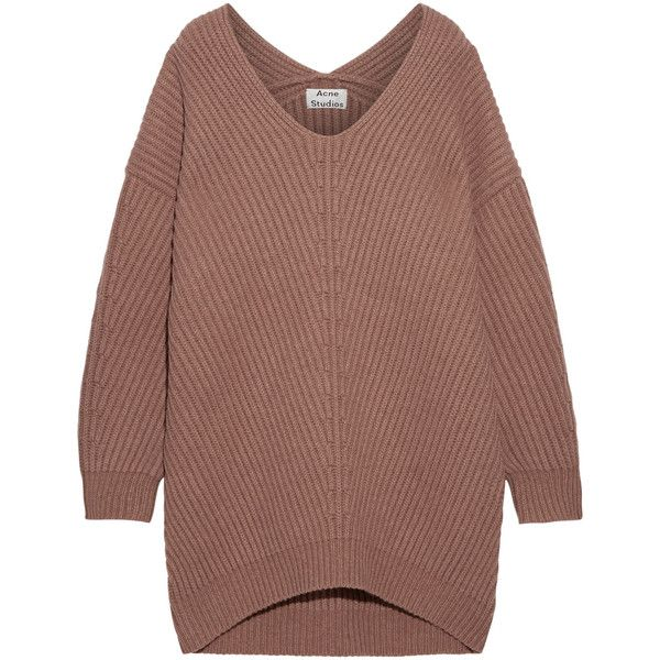 Acne Studios Deka oversized ribbed wool sweater (685 LYD) ❤ liked on  Polyvore featuring tops d675cafb9