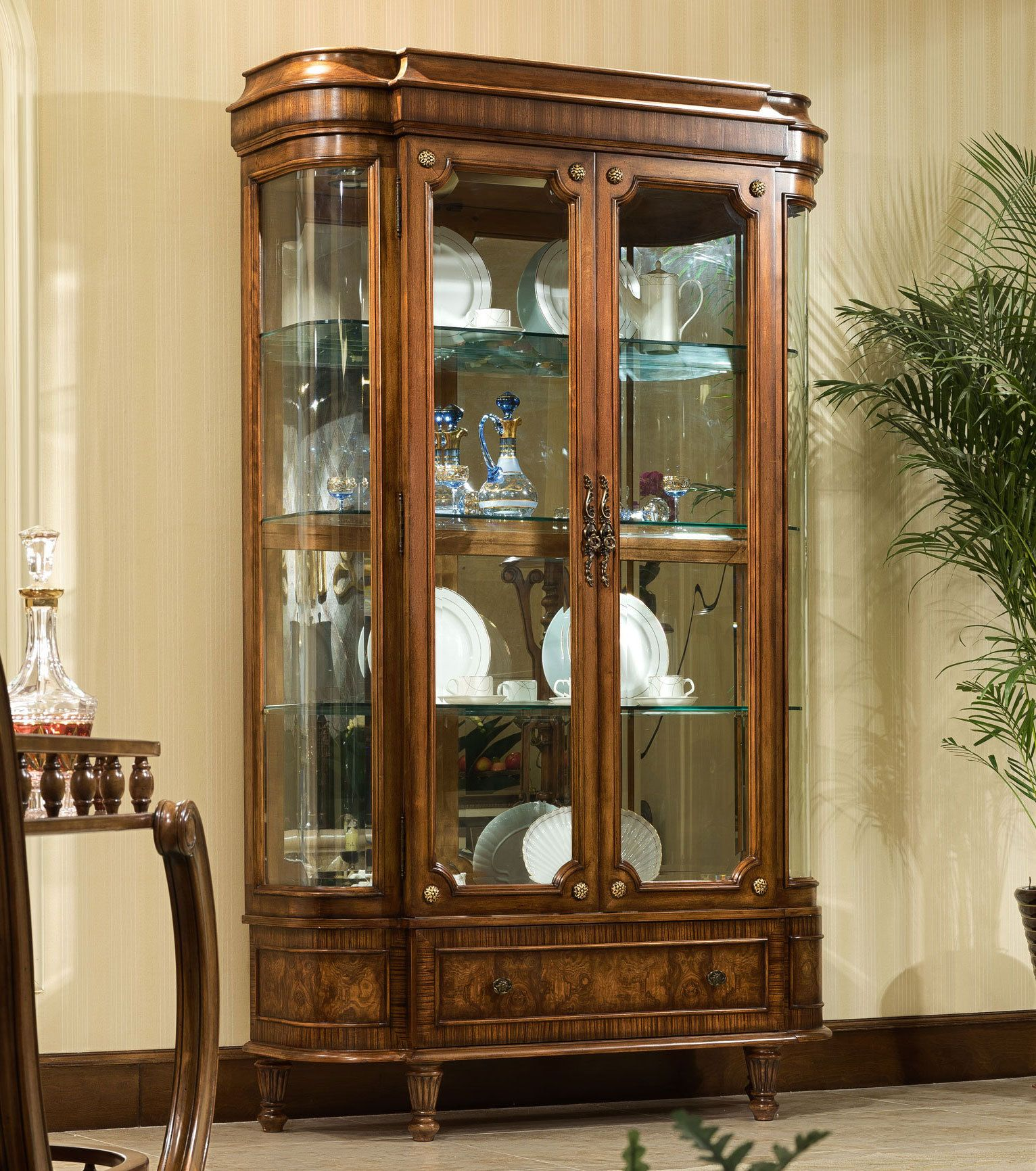 Ascot Curio China Cabinet Orleans International Furniture Home