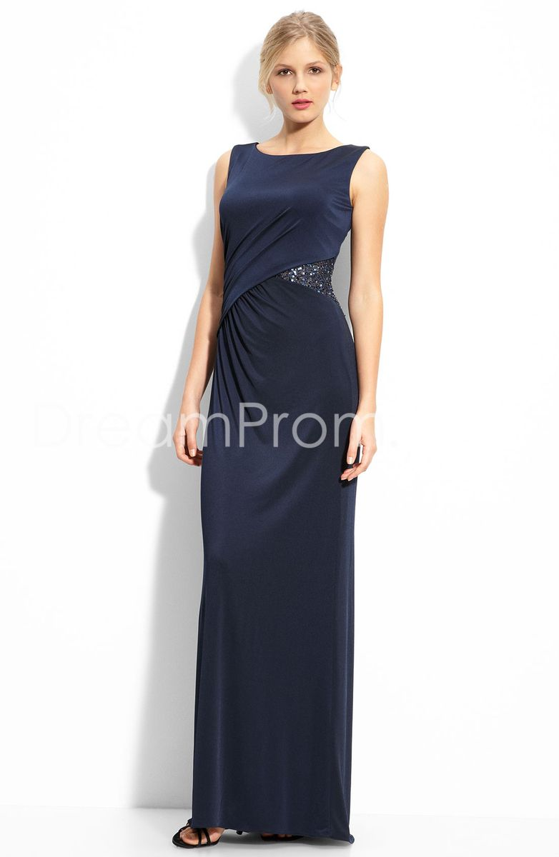 Formal dresses for summer wedding  Formal Beading Pickups FloorLength Sleeveless RoundNeckline
