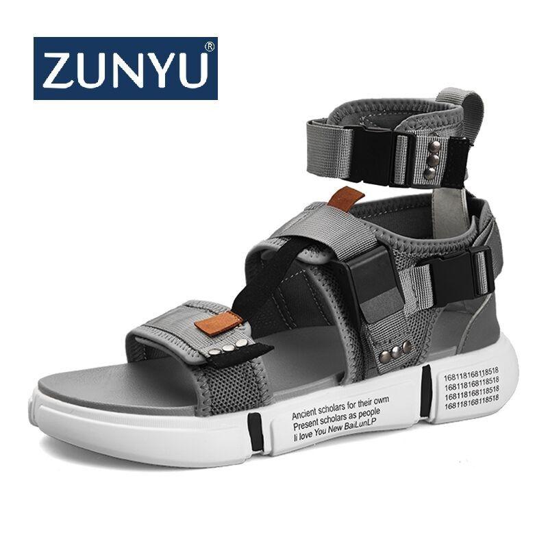 af736e61 ZUNYU 2019 New Fashion Summer Mens Shoes Gladiator Sandals Open Toe  Platform Beach Sandals Boots Rome Style Canvas Men Sandals