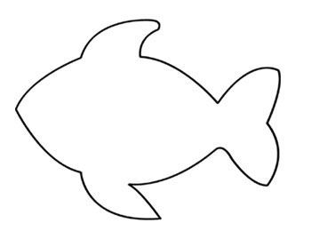 Printable fish pattern template fish prek pinterest for Fish cut out template