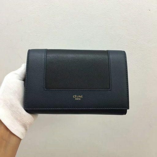 2017 F W Celine Frame Medium Multifunction Wallet in Bicolour Leather e74e11662b2ba