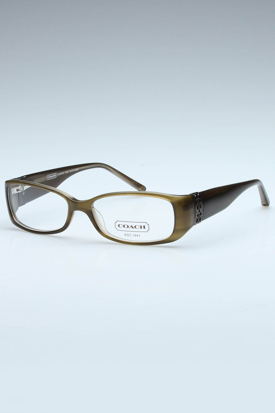 7ca58c7678 Coach Audrina Glasses In Olive Horn - I need new frames..I am liking these.