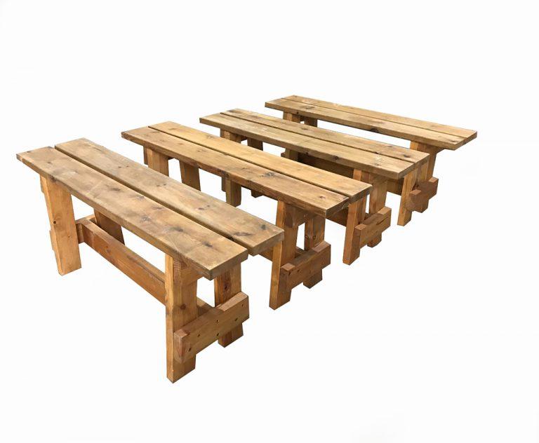 ספסל עץ מלא Studio2 In 2021 Outdoor Decor Picnic Table Decor