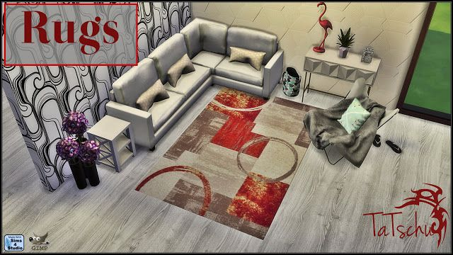 Sims 4 CC's - The Best: New Rugs by Tatschu