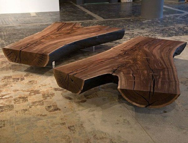 Wohnzimmertische Aus Massivholz Couchtisch Baumstamm