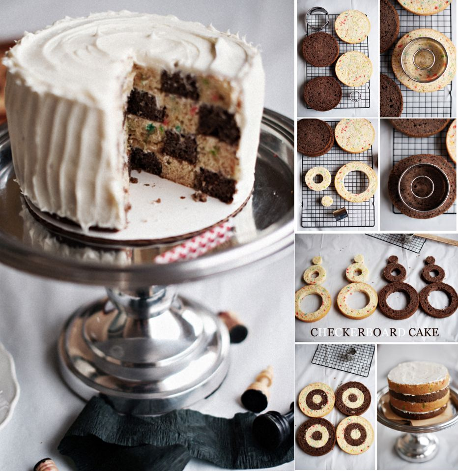 Checkerboard cake cakes cookies and desserts the whoot