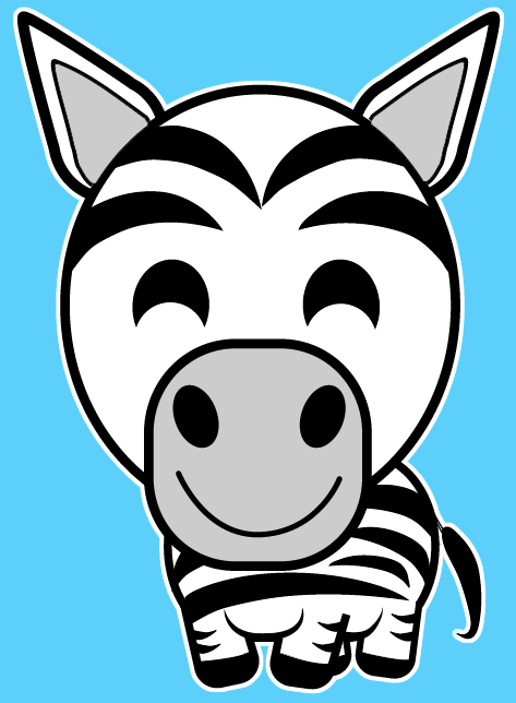 How To Draw A Cartoon Zebra With Easy Steps Lesson For Kids Safari