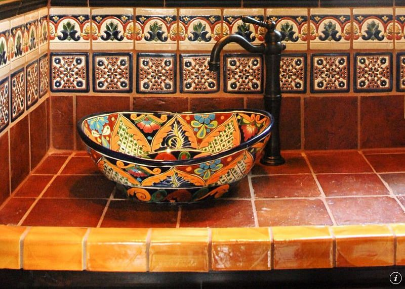Ideas de dise o de ba o y cocina de azulejos mexicanos de for Hacienda los azulejos