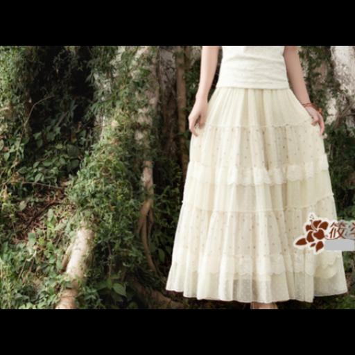 تنورة دانتيل طبقات الكلف ابيض طويلة Dresses Victorian Dress Fashion