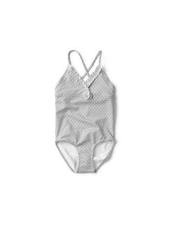 sweet vintage style one piece swimsuit for toddlers