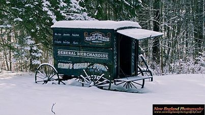 Shaw's General Store wagon. Stowe, Vermont.