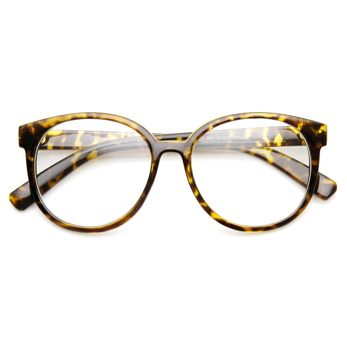Retro Fashion Oversized P3 1980s Style Frame Clear Lens Glasses