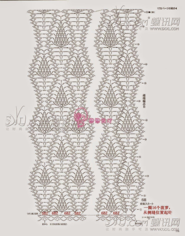 Punto piña al crochet | Crochet Dress | Pinterest | Crochet