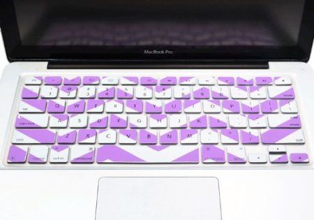 """Amazon.com: TopCase Chevron Zig-Zag Silicone Keyboard Cover Skin for Macbook 13"""" Unibody / Macbook Pro 13"""" 15"""" 17"""" with or Without Retina Di..."""