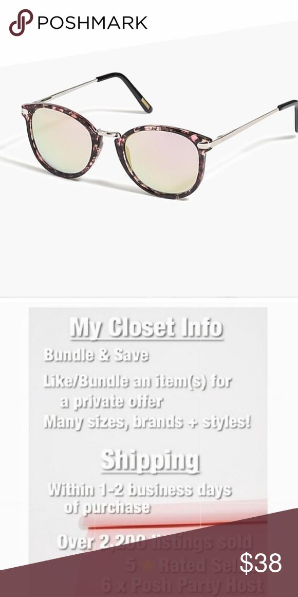 e10d8863e1d22 J. Crew Factory • Mixed Media Mirrored Sunglasses J. Crew Factory • Mixed  Media Mirrored Sunglasses Mirrored frames
