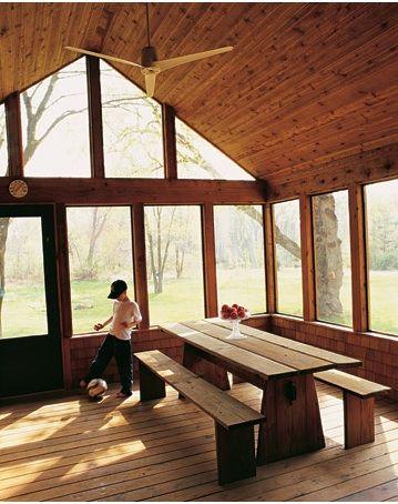 screen porch Lake house Pinterest Porches, Casas de campo y De