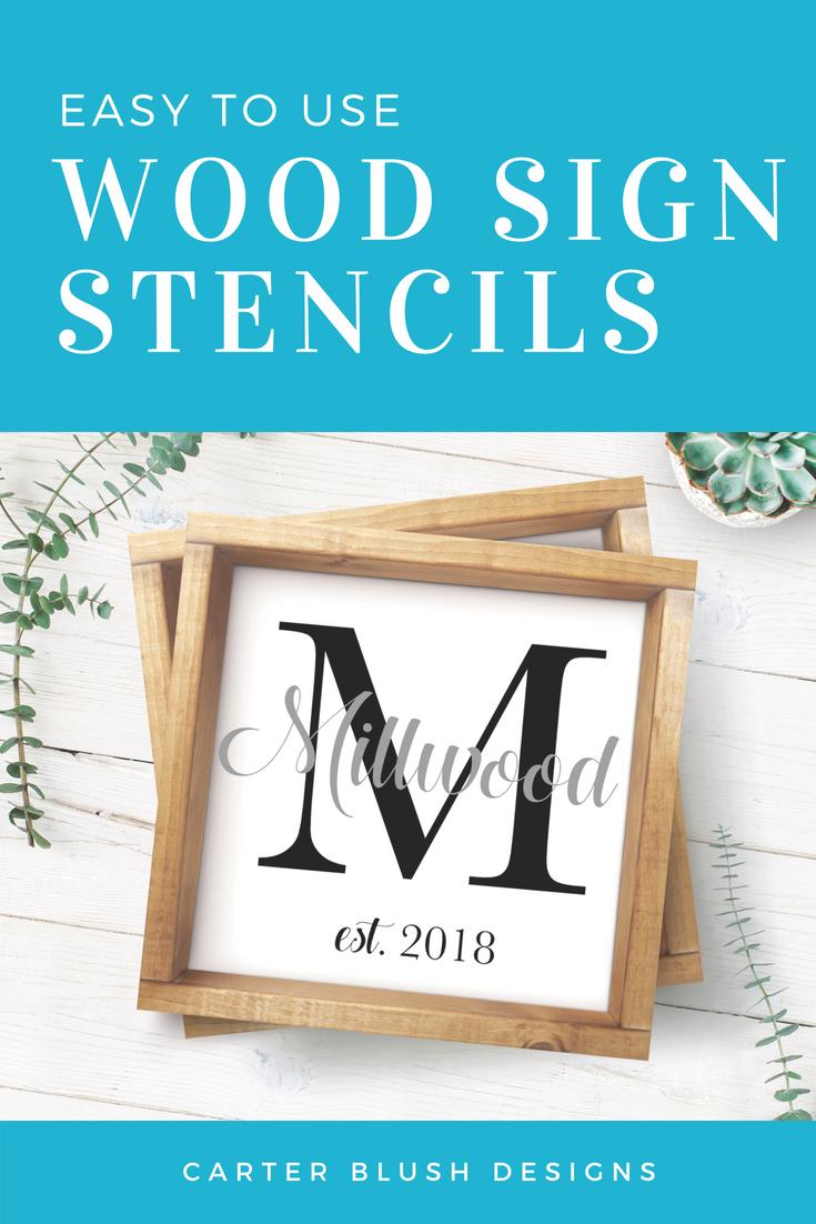 Wood Sign Stencils Diy Wood Signs Wedding Decor Wall Art