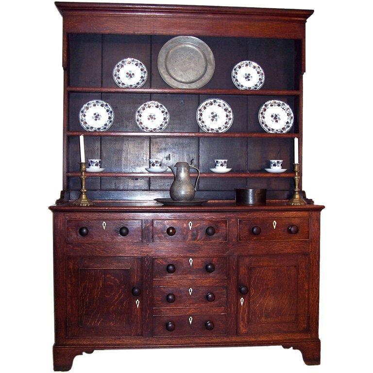 George Iii Oak Dresser Buffet England Late 18th Century Oak Dresser Oak Kitchen Dresser