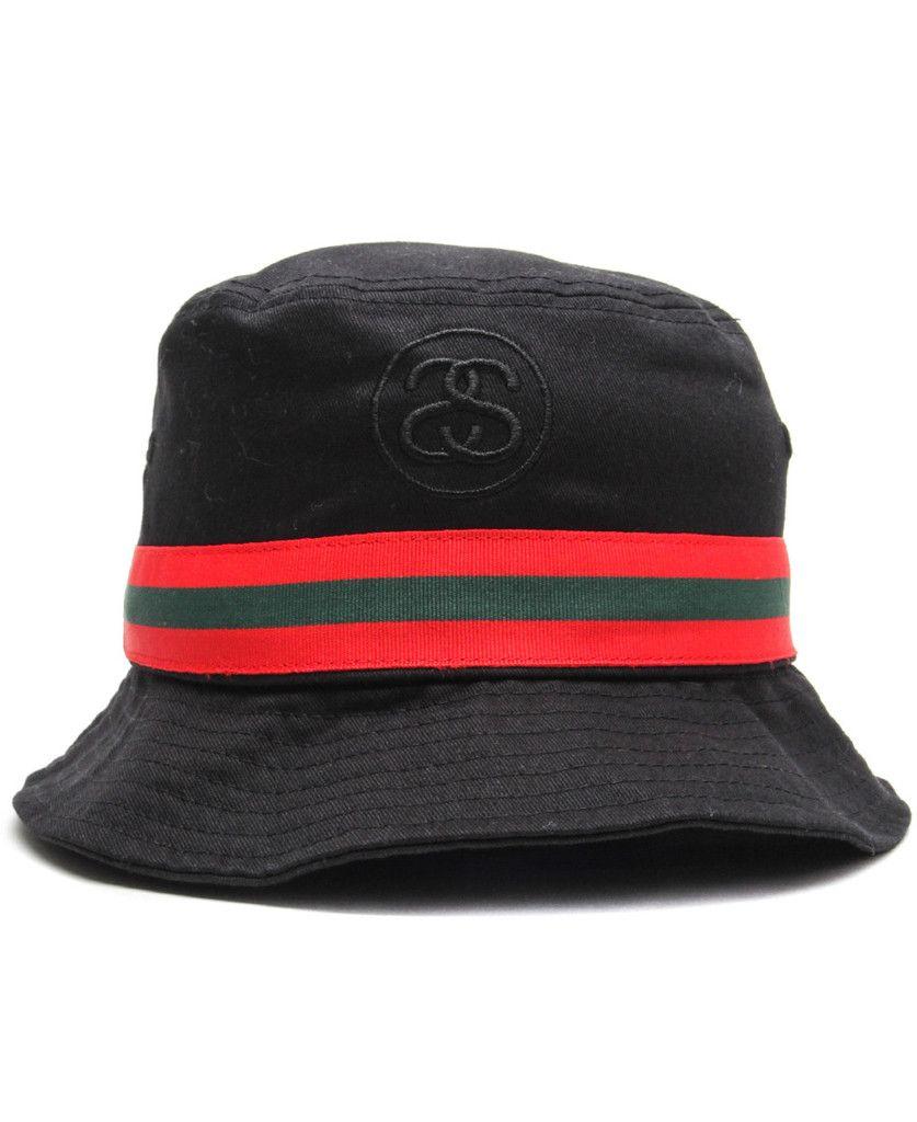 1948b438266 Stussy - SS Link Band Bucket Hat (Black)