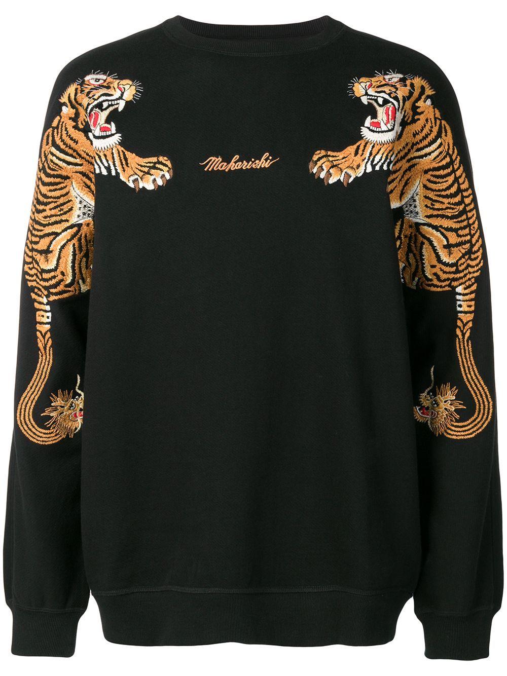 aa2f9e5b9 MAHARISHI MAHARISHI TIGER STYLE SWEATSHIRT - 黑色. #maharishi #cloth ...