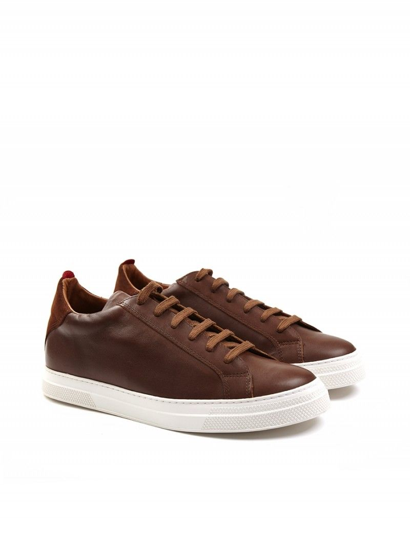 pretty nice 12c7a 3e788 Ambleside Low-Top Shine Leather Caramel   Footwear - Trainers - Oliver  Spencer