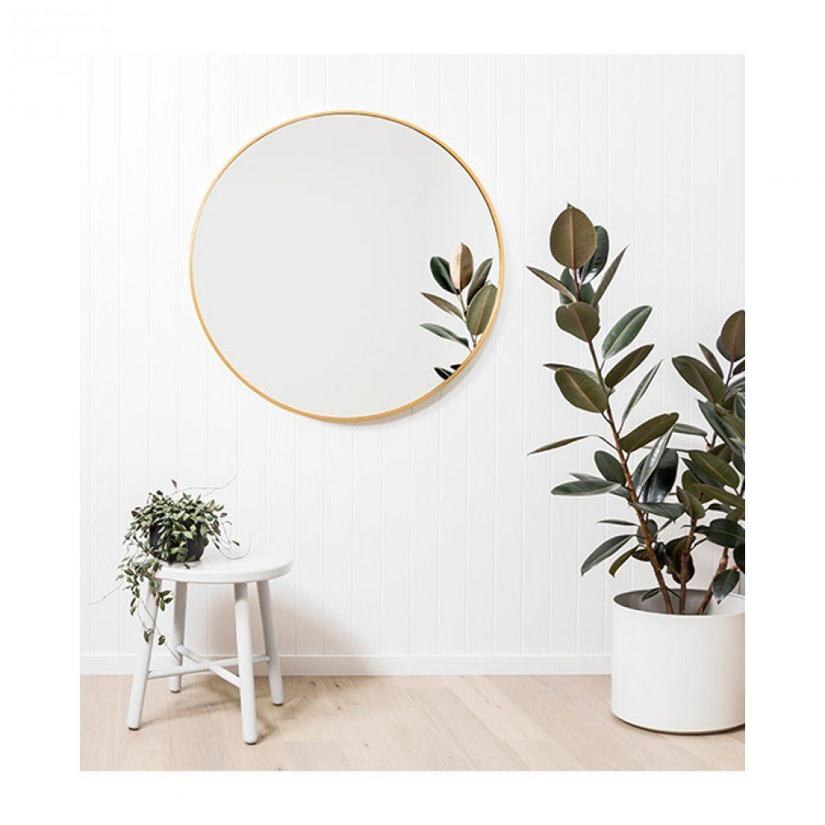 . Bella Round Mirror  Brass  in 2019   murals   Round mirrors  Mirror