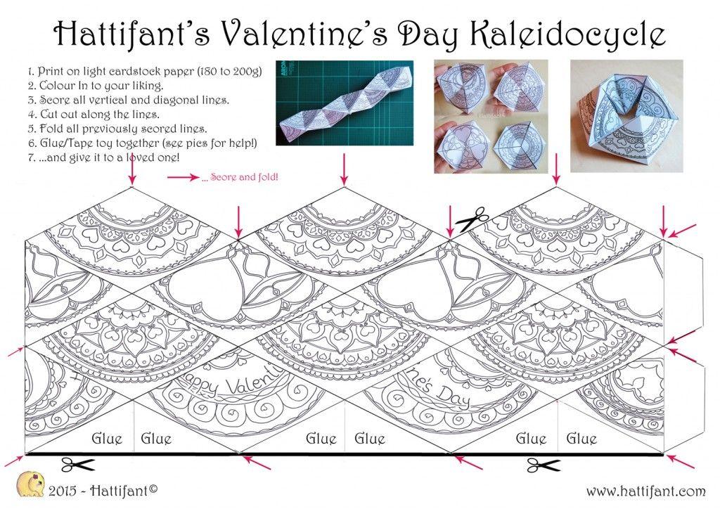 Hattifant\'s Valentine Kaleidocycle - Hattifant | Hračky | Pinterest ...