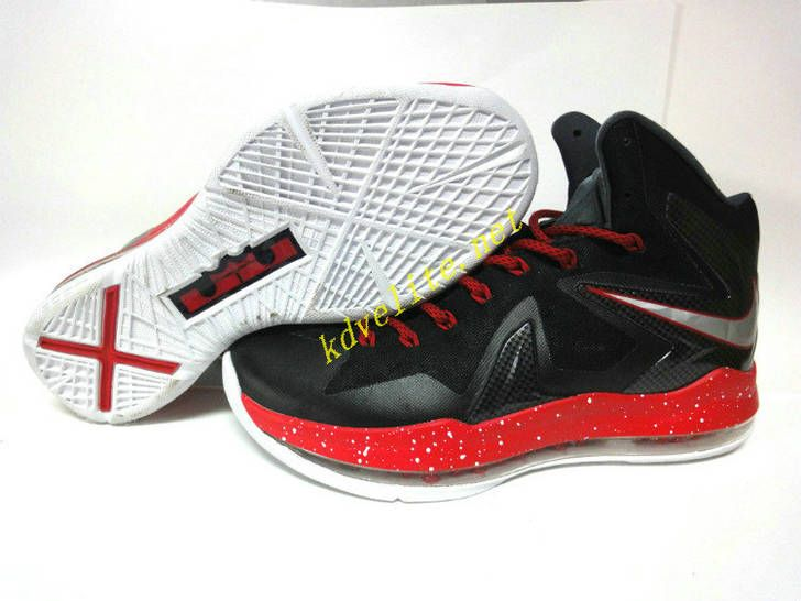 brand new 41413 c42f3 Nike Lebron X Elite Black Varsity Red Red Medal