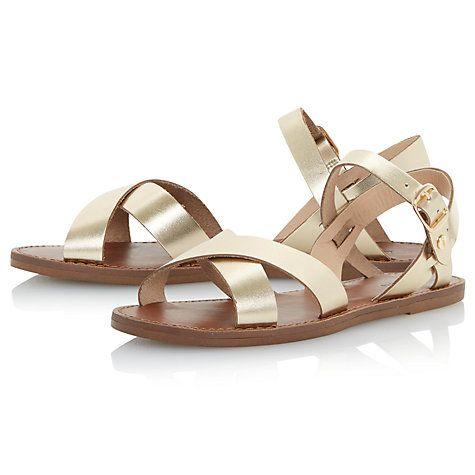 eeb255b0b24379 Buy Dune Laila Cross Vamp Leather Sandals Online at johnlewis.com ...