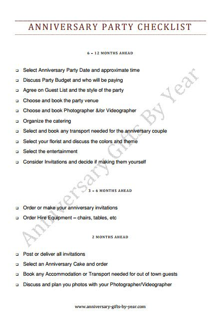 50th Wedding Anniversary Party Planning Checklist 50th Wedding Anniversary Party Party Planning Checklist Wedding Anniversary Party