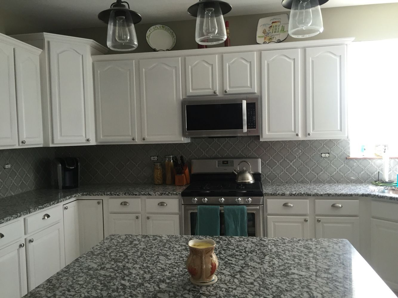 Kitchen Update No More Oak Cabinets Or Laminate Countertops