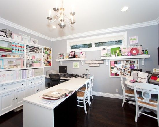 Contemporary Home Office Scrapbooking Rooms Design Pictures